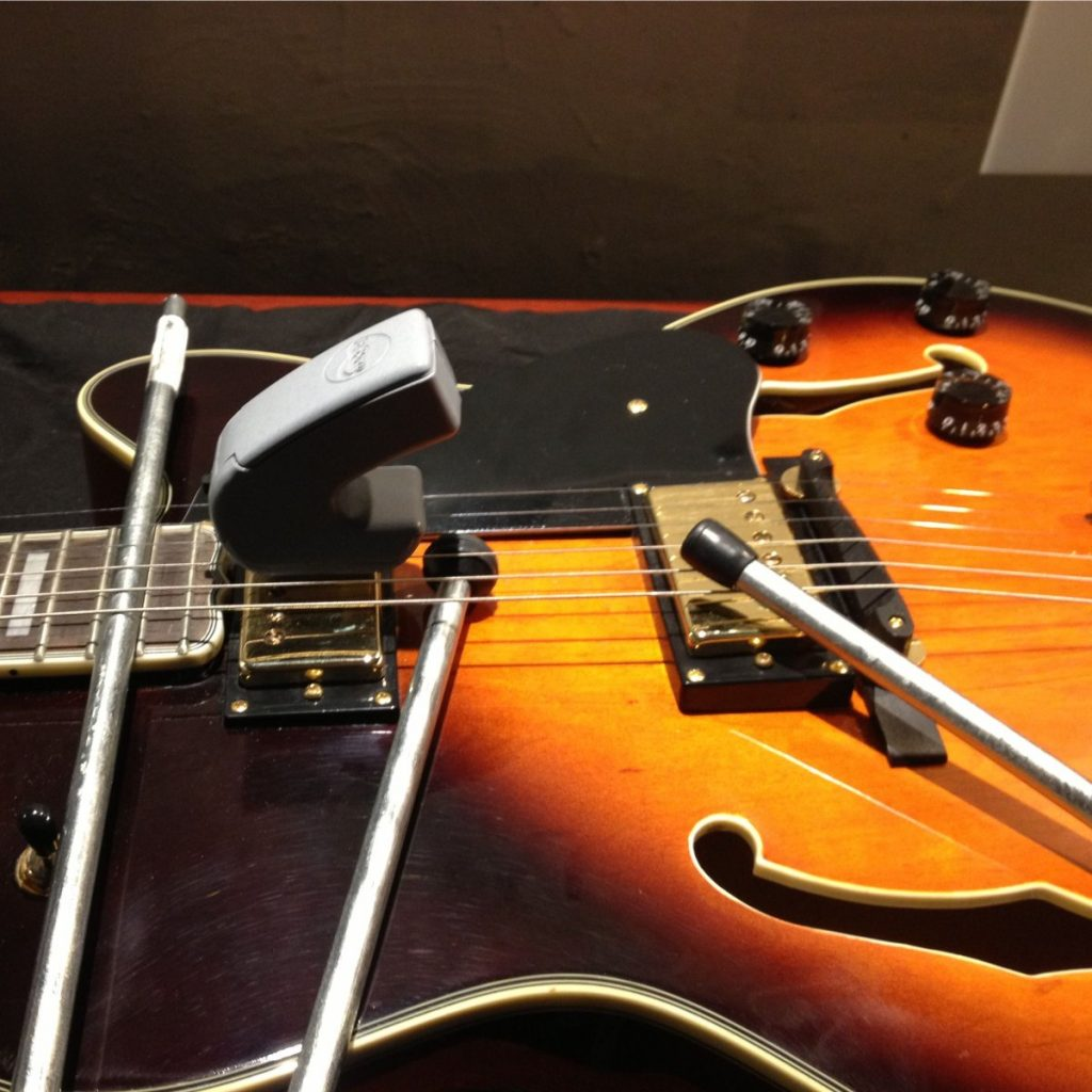 guitar with e-bow magnets and mallets